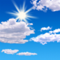 Mostly sunny, with a high near 69. North wind around 10 mph.